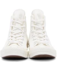 Play Comme des Garçons - White Heart Logo Converse Edition High_top Sneakers for Men - Lyst