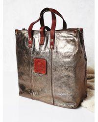 Free People - Campomaggi Womens Moonshine Metallic Lthr T - Lyst