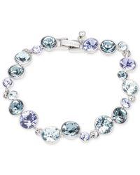 Givenchy | Silver-tone Blue Crystal Bracelet | Lyst
