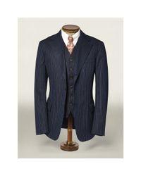 RRL - Blue Cotton Herringbone Sport Coat for Men - Lyst