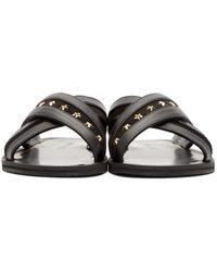 f05a39c0b5391 Jimmy Choo Black Star Studded Wally Sandals in Black for Men - Lyst