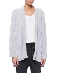Eileen Fisher - Gray Soft-spun Kimono Cardigan - Lyst