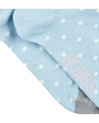 Hobbs - Blue Large Spot Sock - Lyst
