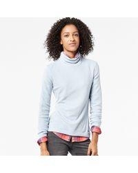 Uniqlo | Blue Women Heattech Fleece Turtleneck Long Sleeve T-shirt | Lyst