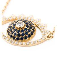 KENZO - Metallic Big 'Eye' Necklace - Lyst