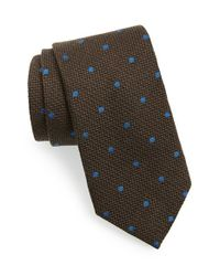 David Donahue - Green Dot Woven Tie for Men - Lyst