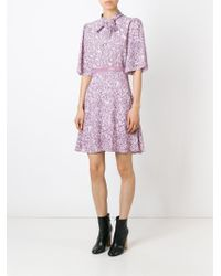 Giamba - Pink Floral Pussy Bow Dress - Lyst