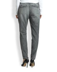 Rag & Bone - Gray Aberdeen Slouchy Pleated Pants - Lyst