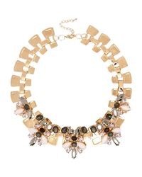 River Island | Metallic Gold Tone Embellished Chain Necklace | Lyst
