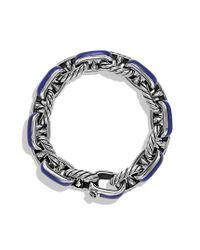 David Yurman - Metallic Maritime Anchor Link Bracelet with Lapis Lazuli for Men - Lyst