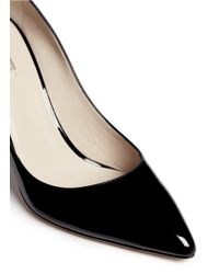 Giorgio Armani - Black Patent Leather Point Toe Pumps - Lyst