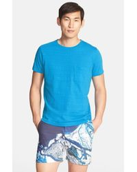 Orlebar Brown - Blue 'Sammy Ii' Slub Pocket T-Shirt for Men - Lyst