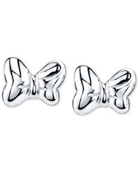 Disney | Gray Minnie Mouse Bow Stud Earrings In Sterling Silver | Lyst