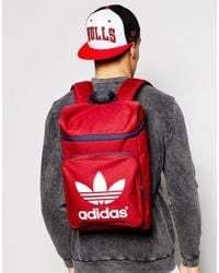 Lyst - adidas Originals Classic Backpack Ab2689 in Red for Men 15e2f1bb4e0a0