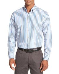 Tommy Bahama | Blue 'chairman Of The Surf' Stripe Sport Shirt for Men | Lyst
