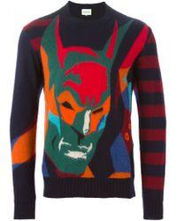Iceberg - Blue Batman Sweater for Men - Lyst