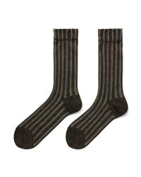 Hansel From Basel - Black X Rachel Comey Sheer Stripe Crew Socks - Lyst