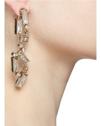St. John - Metallic Abstract Drop Earrings - Lyst