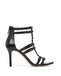 BCBGeneration   Black Dariah Studded Sandal Heels   Lyst