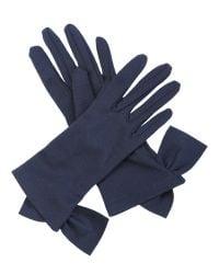 Cornelia James - Black Imogen Merino Wool Gloves - Lyst