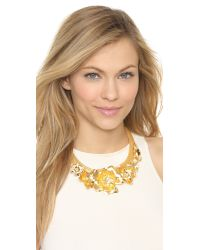 Holst + Lee | Metallic Golden Lei Statement Necklace - Gold | Lyst