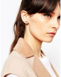 ASOS | Metallic Sterling Silver Mismatch Shape Stud Earrings | Lyst