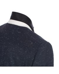 Paul Smith - Blue Men's Navy Wool-blend Slub Blazer for Men - Lyst