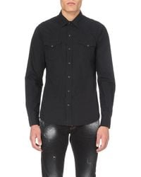 True Religion | Black Jake Regular-fit Cotton Poplin Shirt for Men | Lyst