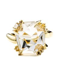 Alexis Bittar - Metallic Golden Ice Marquis Fancy Cut Ring You Might Also Like - Lyst