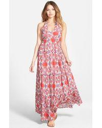Amour Vert | Pink Halter Maxi Dress | Lyst
