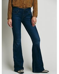 Free People | Blue Isabel Panel Flare | Lyst