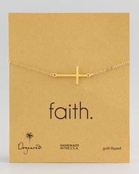 Dogeared | Metallic Gold-dipped Integrated Large Cross Bracelet | Lyst