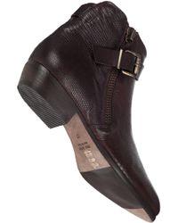 275 Central | Brown Buckled Biker Boot T Moro Lizard | Lyst
