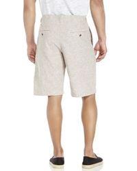 Perry Ellis - Brown Linen-Blend Drawstring Shorts for Men - Lyst