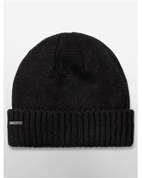 Calvin Klein | Black White Label Watchman Beanie | Lyst