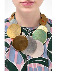 Herve Van Der Straeten | Hammered Multicolored Gold-Plated Necklace | Lyst