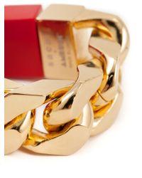 Sacai | Red Chain Link Bracelet | Lyst