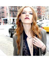 Adornia | Metallic Champagne Diamond Bowery Necklace | Lyst
