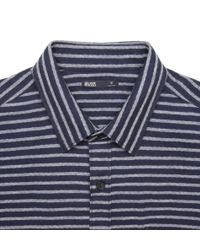 Onassis Clothing | Blue Herringbone Stripe Shirt for Men | Lyst