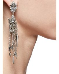 Erickson Beamon - Metallic Whiter Shade Of Pale Goldplated Swarovski Crystal Earrings - Lyst