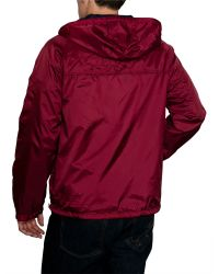 Raging Bull - Red N/alightweight Cagoule Full Zip Mac for Men - Lyst