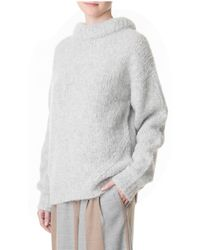 Tibi | Gray Bubble Pullover | Lyst