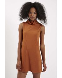 TOPSHOP - Brown A-line Dress By Glamorous - Lyst