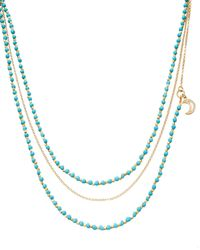 Astley Clarke - Blue Biography Beaded Charm Necklace - Lyst