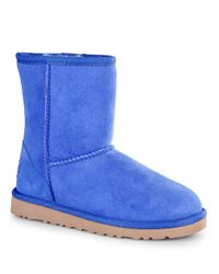 UGG | Blue Kids Classic Short Sheepskin Boots | Lyst