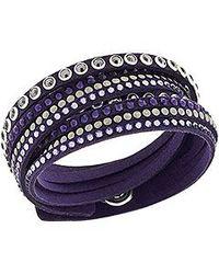 Swarovski | Purple Slake Bracelet Rock | Lyst