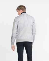 Zara | Gray Perforated Jacket for Men | Lyst