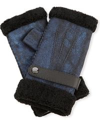 Causse Gantier | Black Shearling Fingerless Gloves | Lyst
