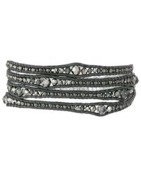 Chan Luu | Metallic 32' Silver Night/gunmetal Wrap Bracelet | Lyst