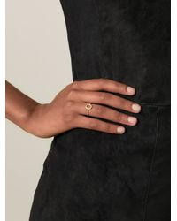 Bjorg | Metallic 'alphabet Ring' | Lyst